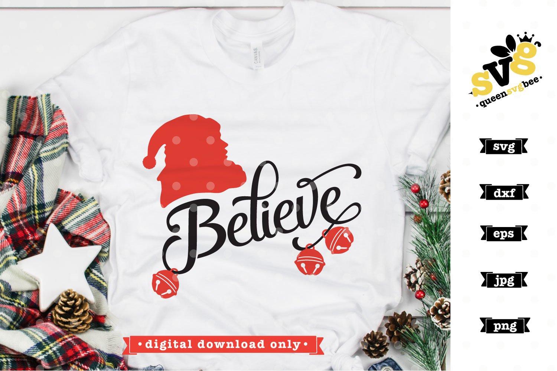Christmas SVG file | Believe in Santa SVG design example image 2