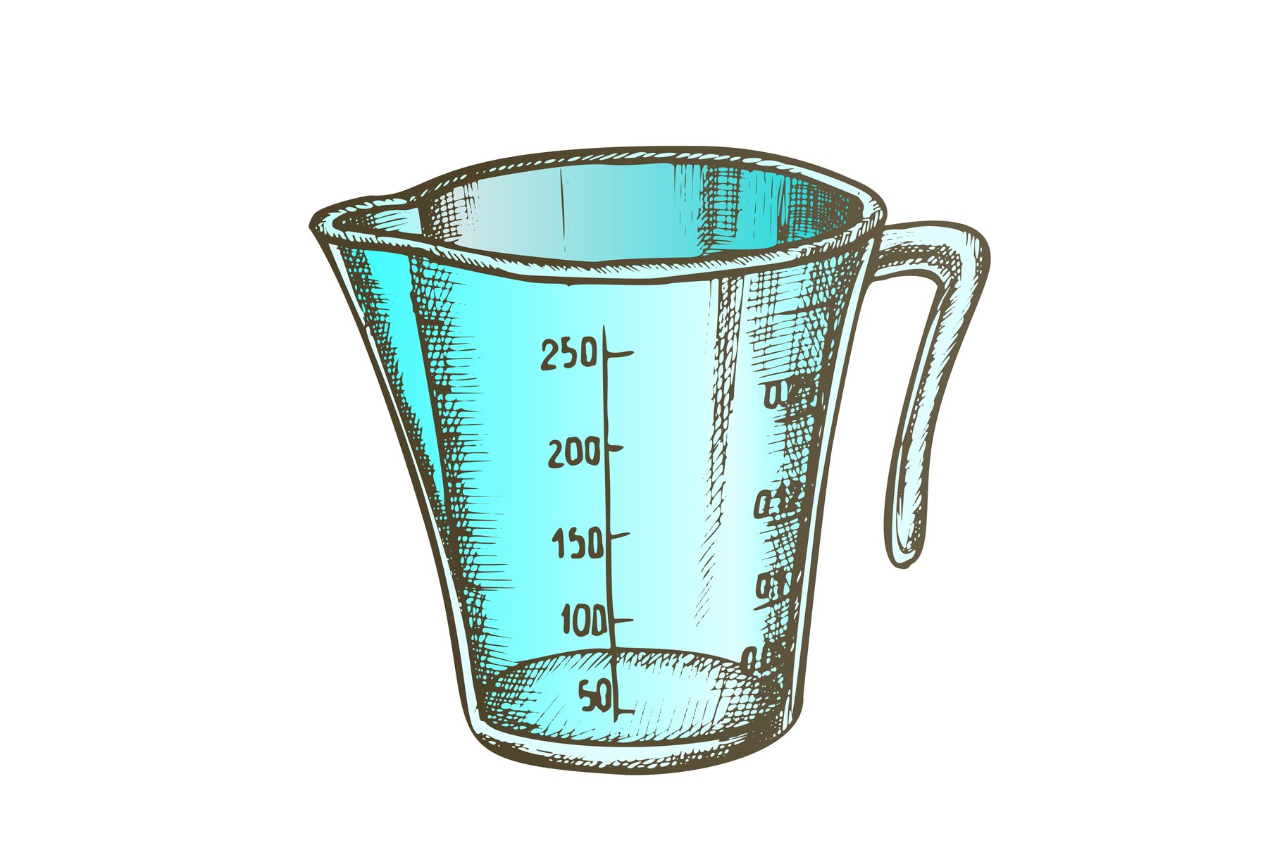 Measuring Cup For Baking And Cooking Color Vector example image 1
