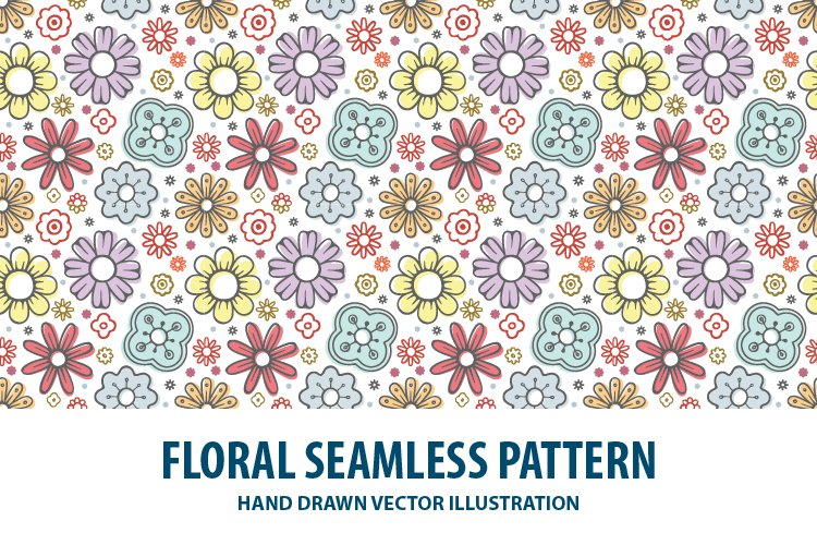 Floral seamless pattern. Part 1 example image 1