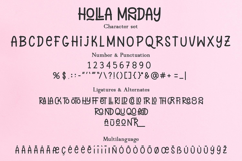 Holla Monday example image 6