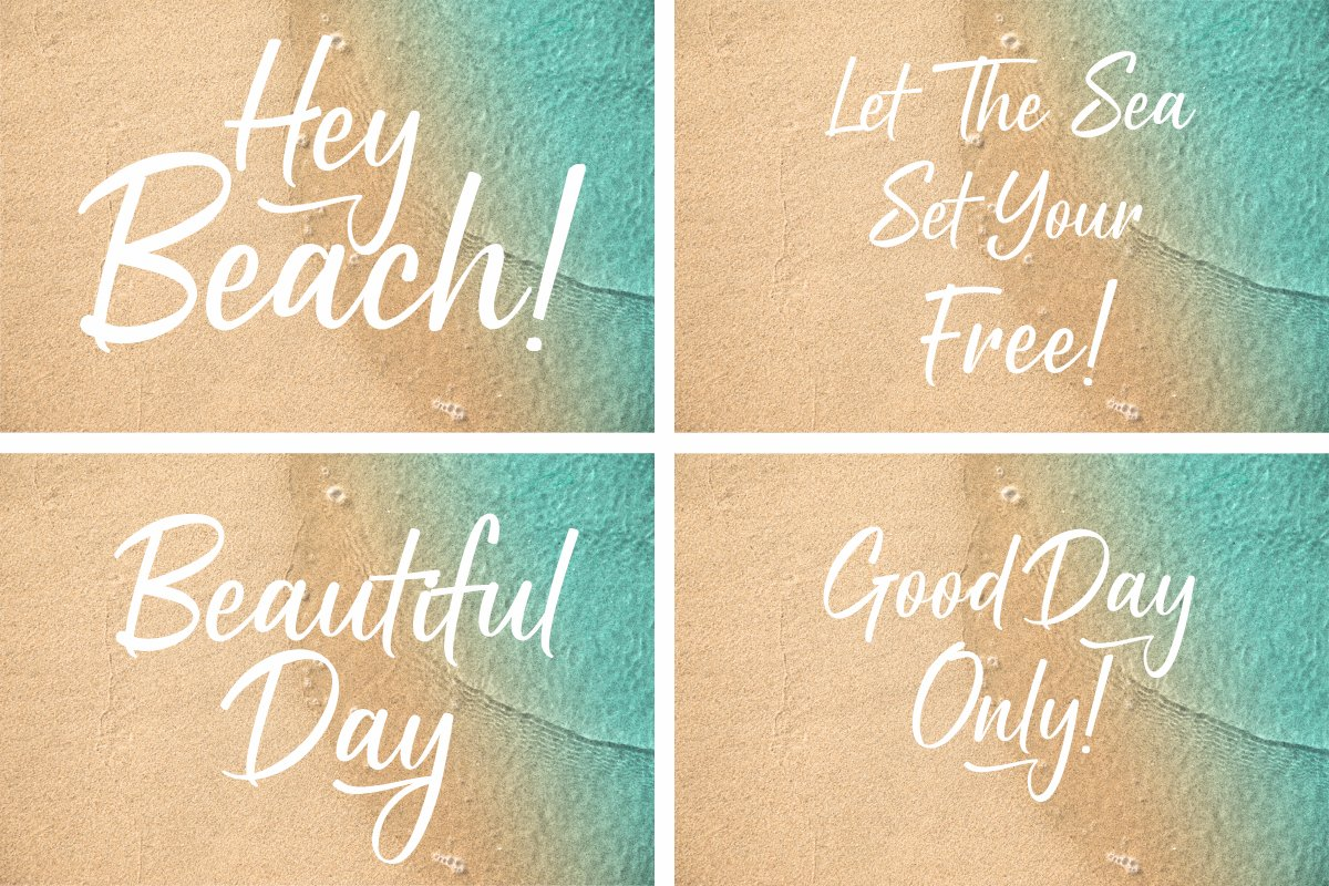 Holiday Script   A Modern Calligraphy example image 9
