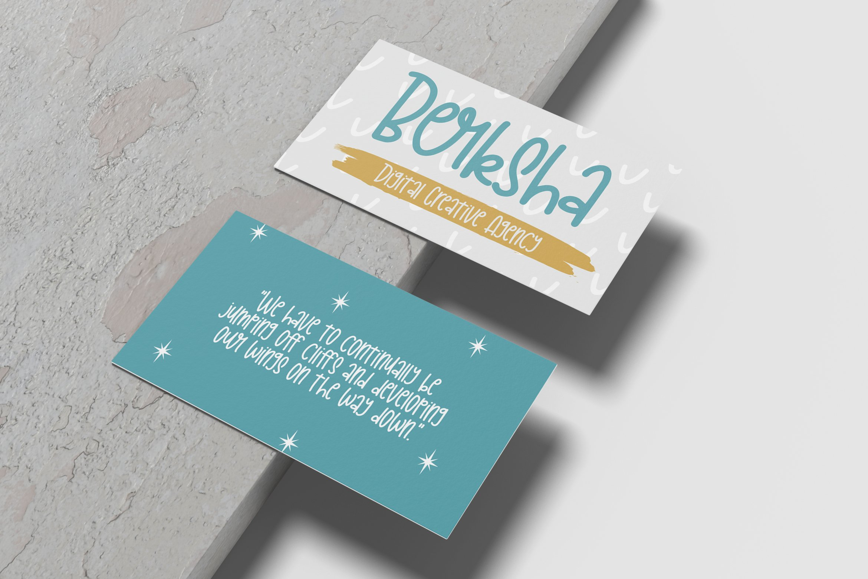 Bourbond - Handlettered Font example image 6