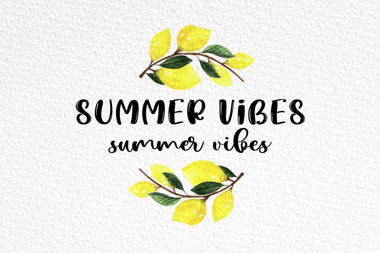 Lemon Summer Font Duo example image 2