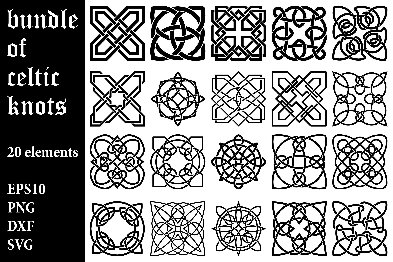 Download Bundle Of Celtic Knot Designs 979667 Cut Files Design Bundles