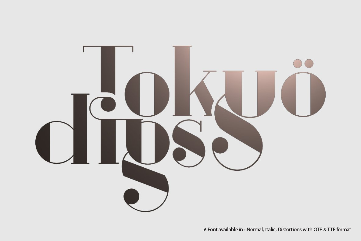 TOKYO DIGS Font Serif 6 in 1 example image 1