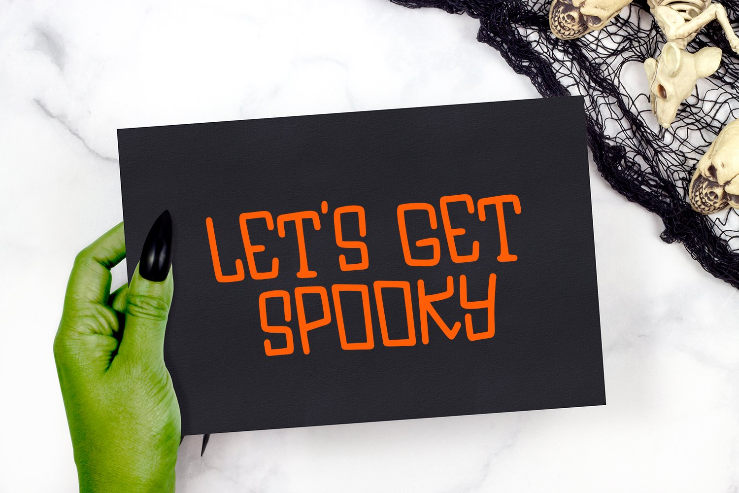 Be Scary - A Hand-Lettered Halloween Font example image 4