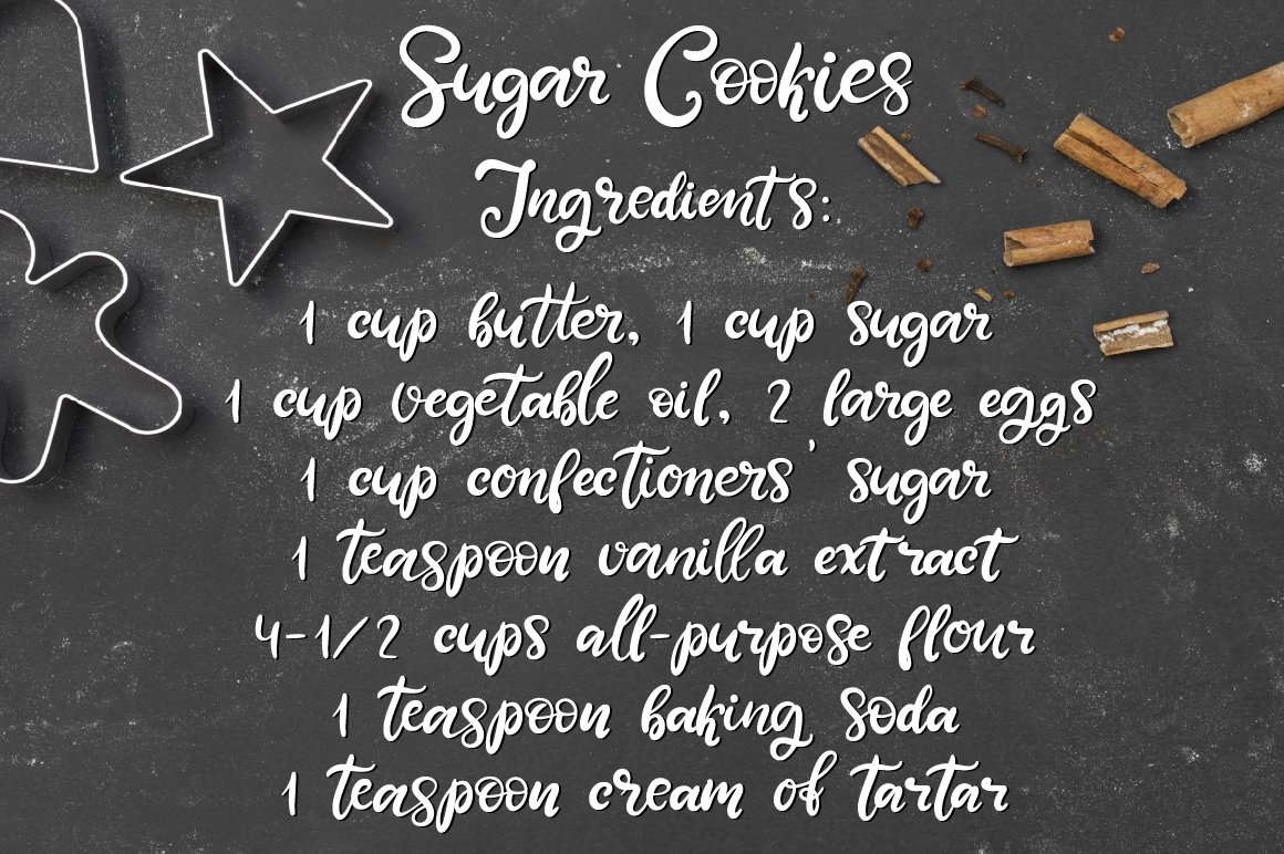 Sweet Tooth. A handwritten script font example image 8