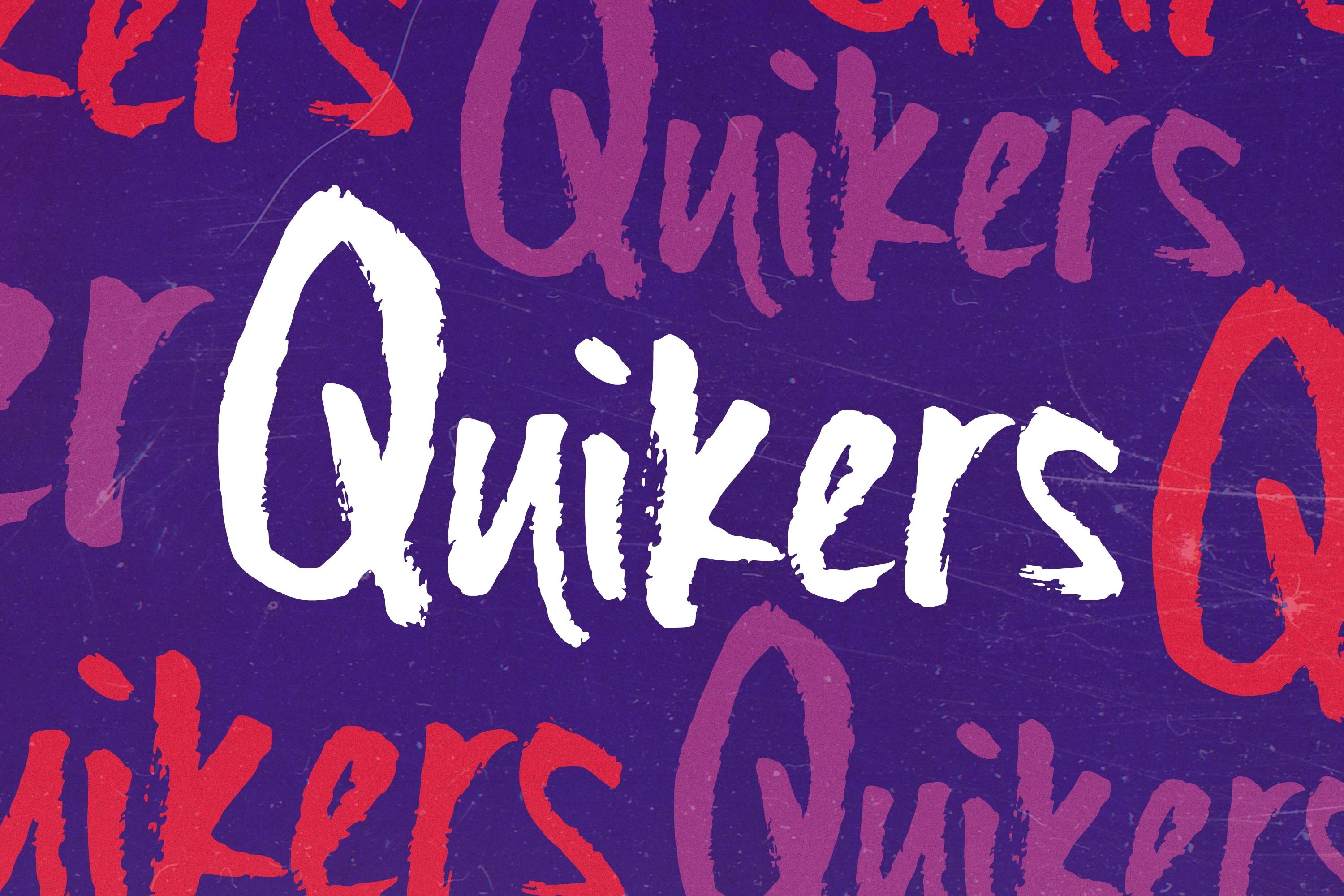 Quikers - Brush Font example image 1