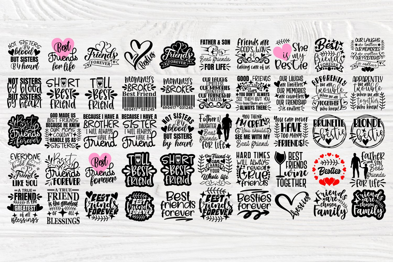 Friends Svg Cut Files, Friendship Svg Bundle, Shirt Designs example image 2