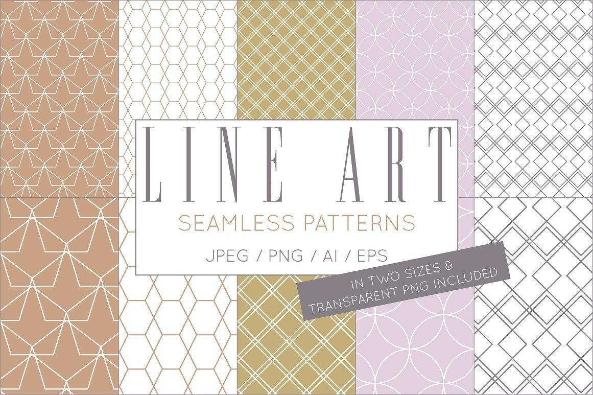 Simple Elegant Line Art Pattern Set example image 3