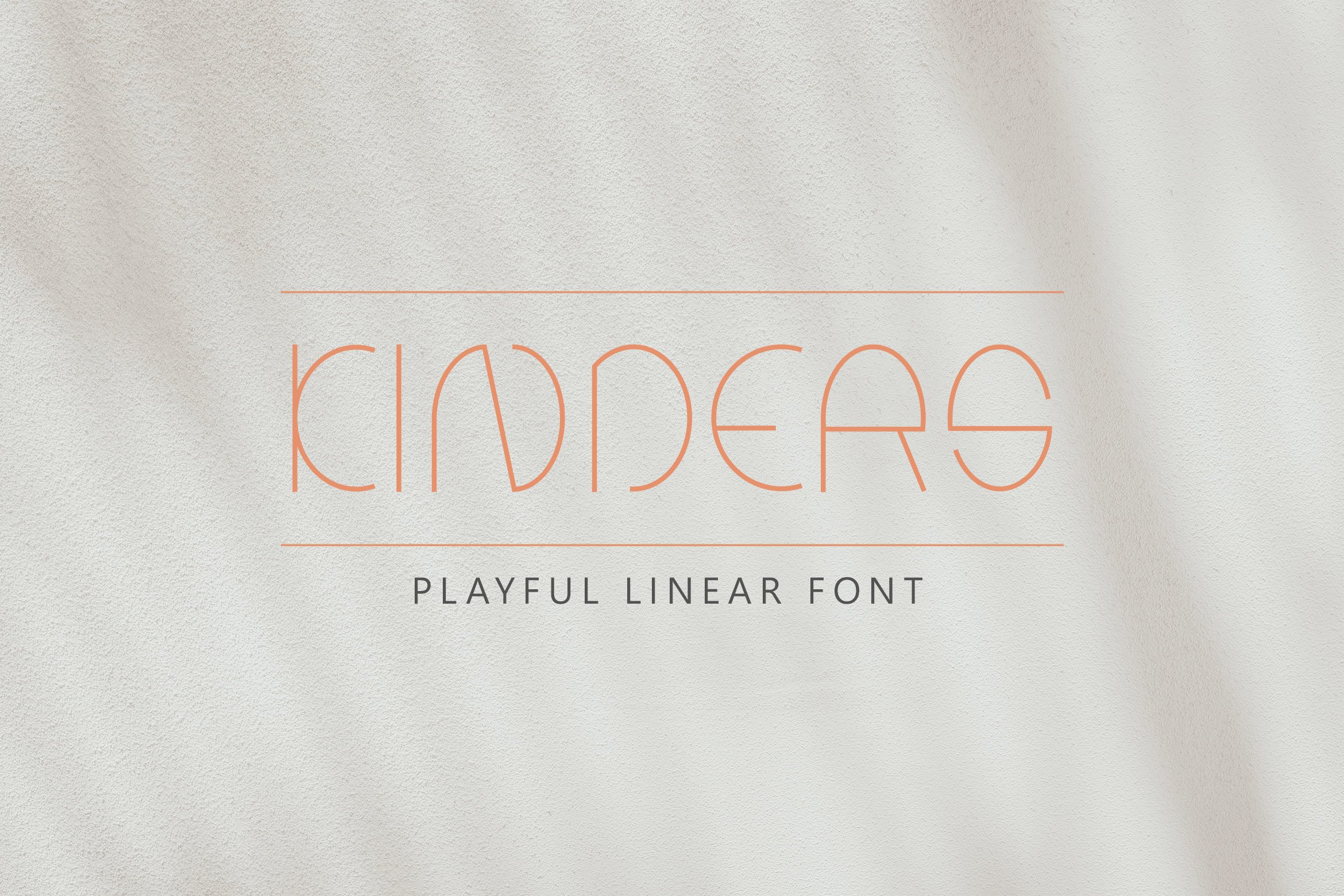 Kinders - Playful Linear Font example image 1