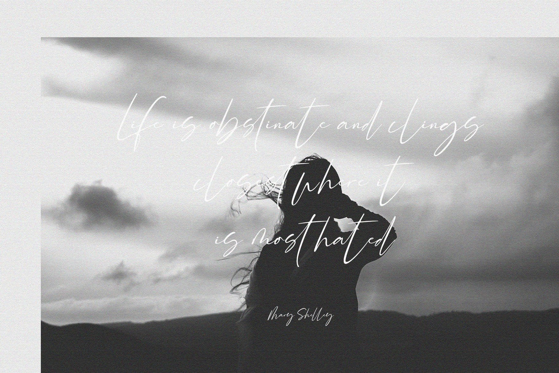 Rossie // Modern Script Font example image 9