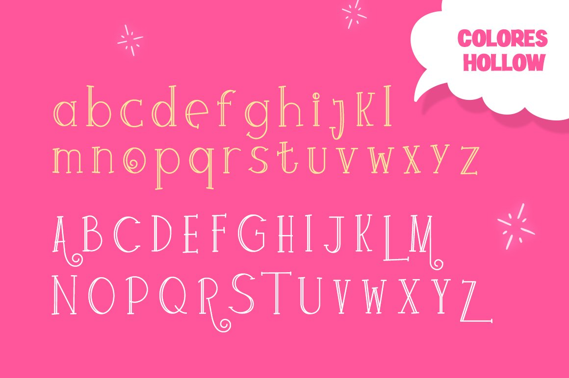 Colores Font Duo example image 5