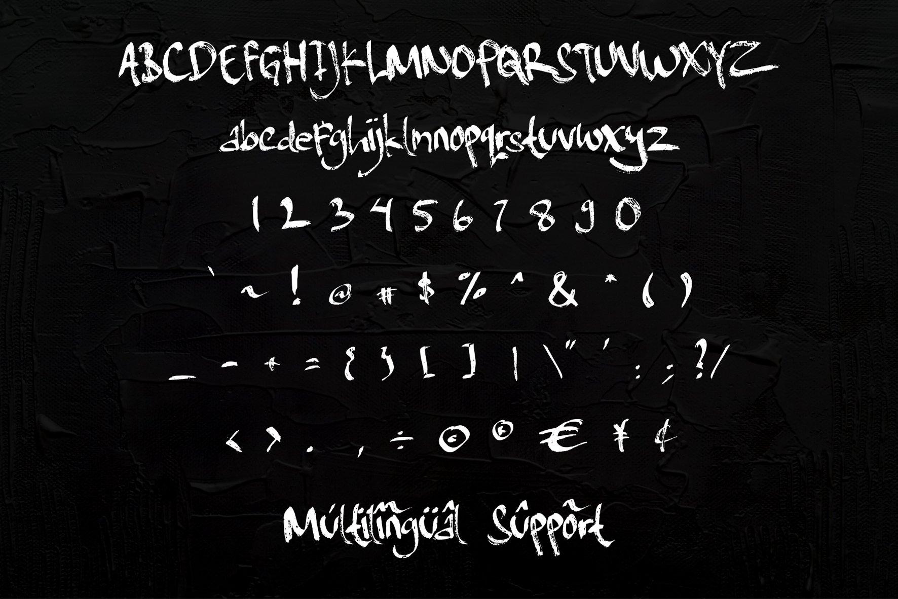 Dark Knight - handbrush Typeface example image 7
