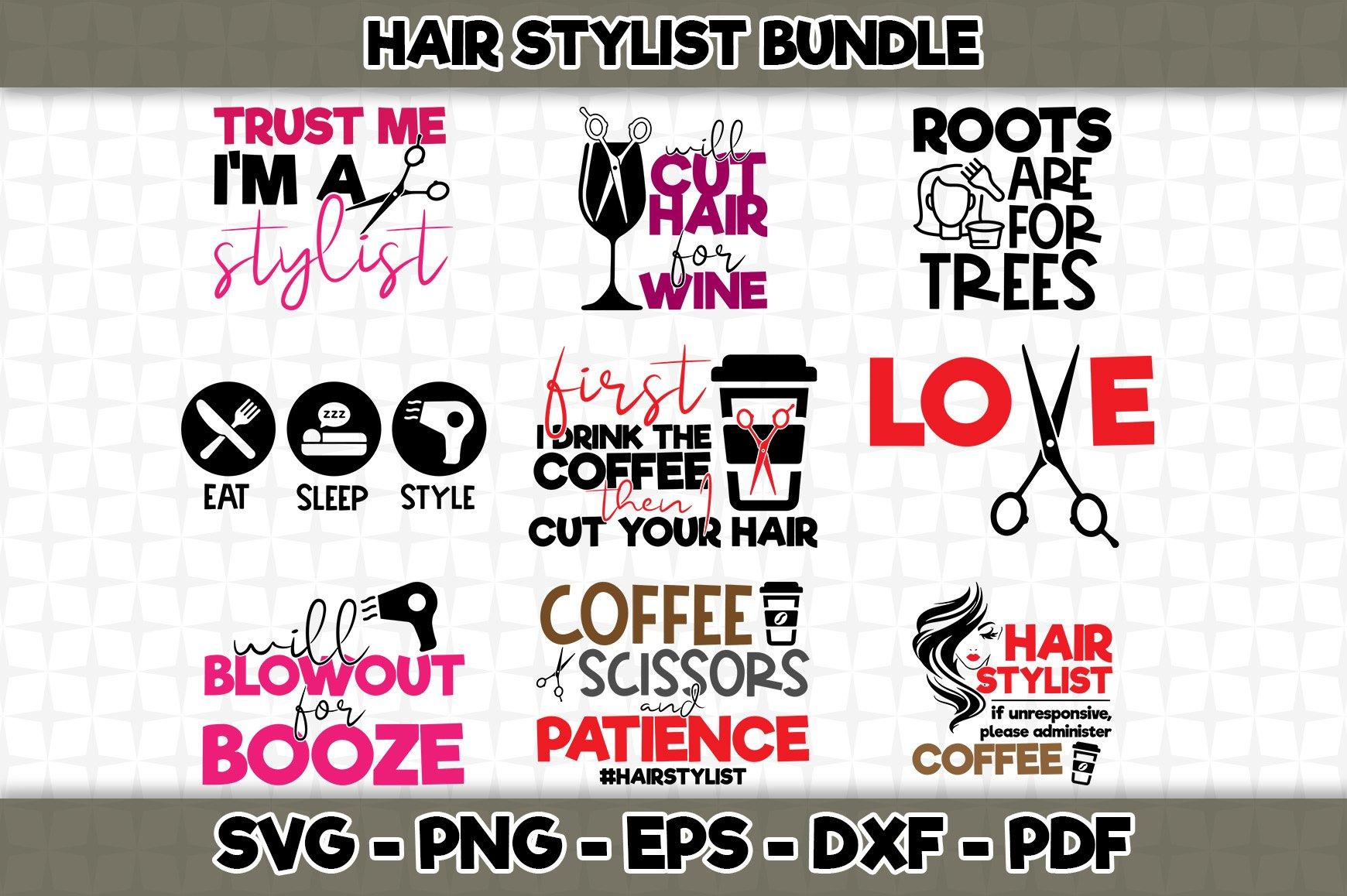 Download Hairstylist Svg Bundle 9 Designs Included Svg Cut File 478214 Svgs Design Bundles