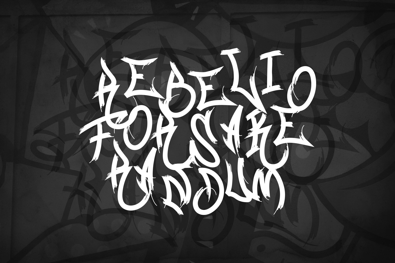 Graffiti Gangsta Font example image 3