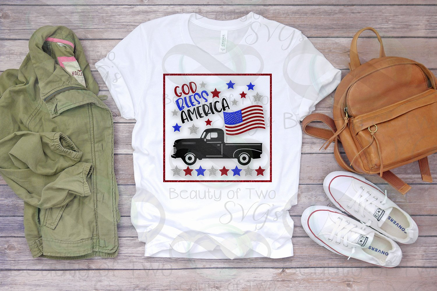 God Bless America Sublimation Design 4th of July 300 dpi png example image 2