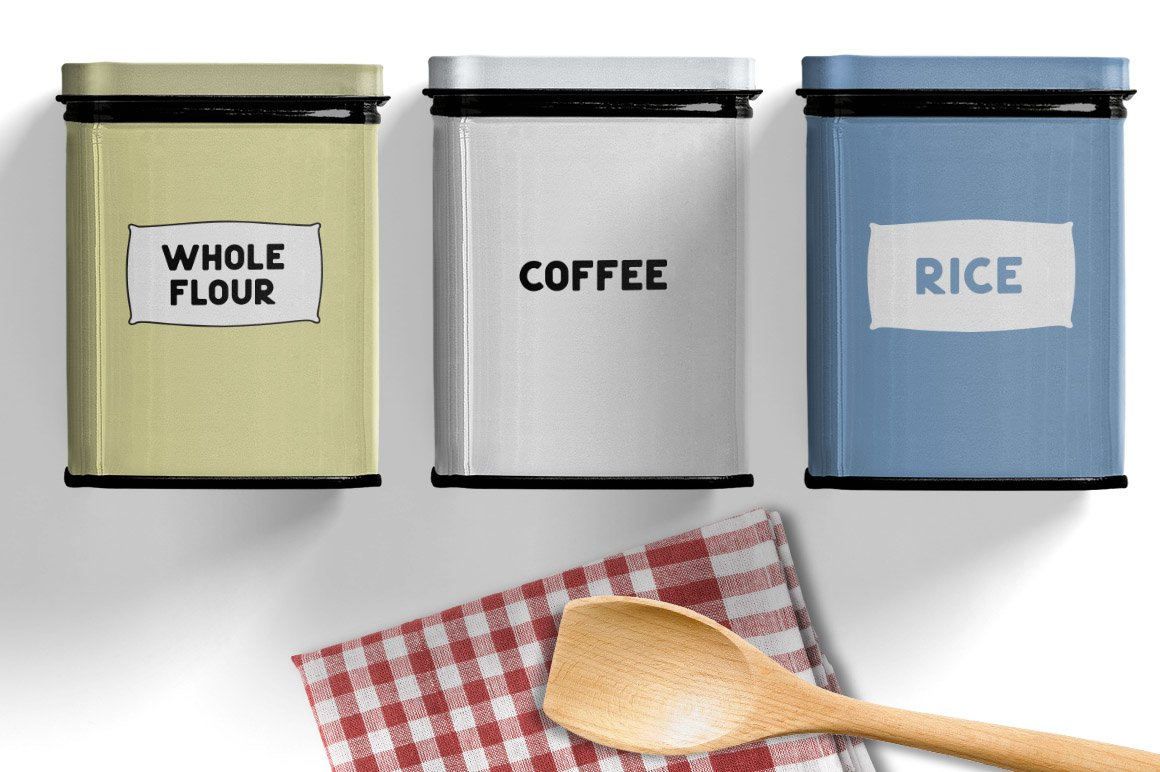 Pantry Labels SVG DXF PNG example image 2