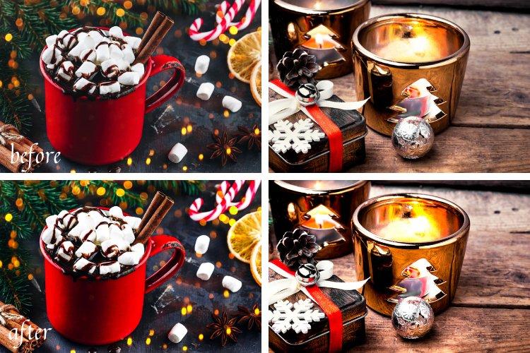 Moody Christmas Mobile & Desktop Lightroom Presets example image 9