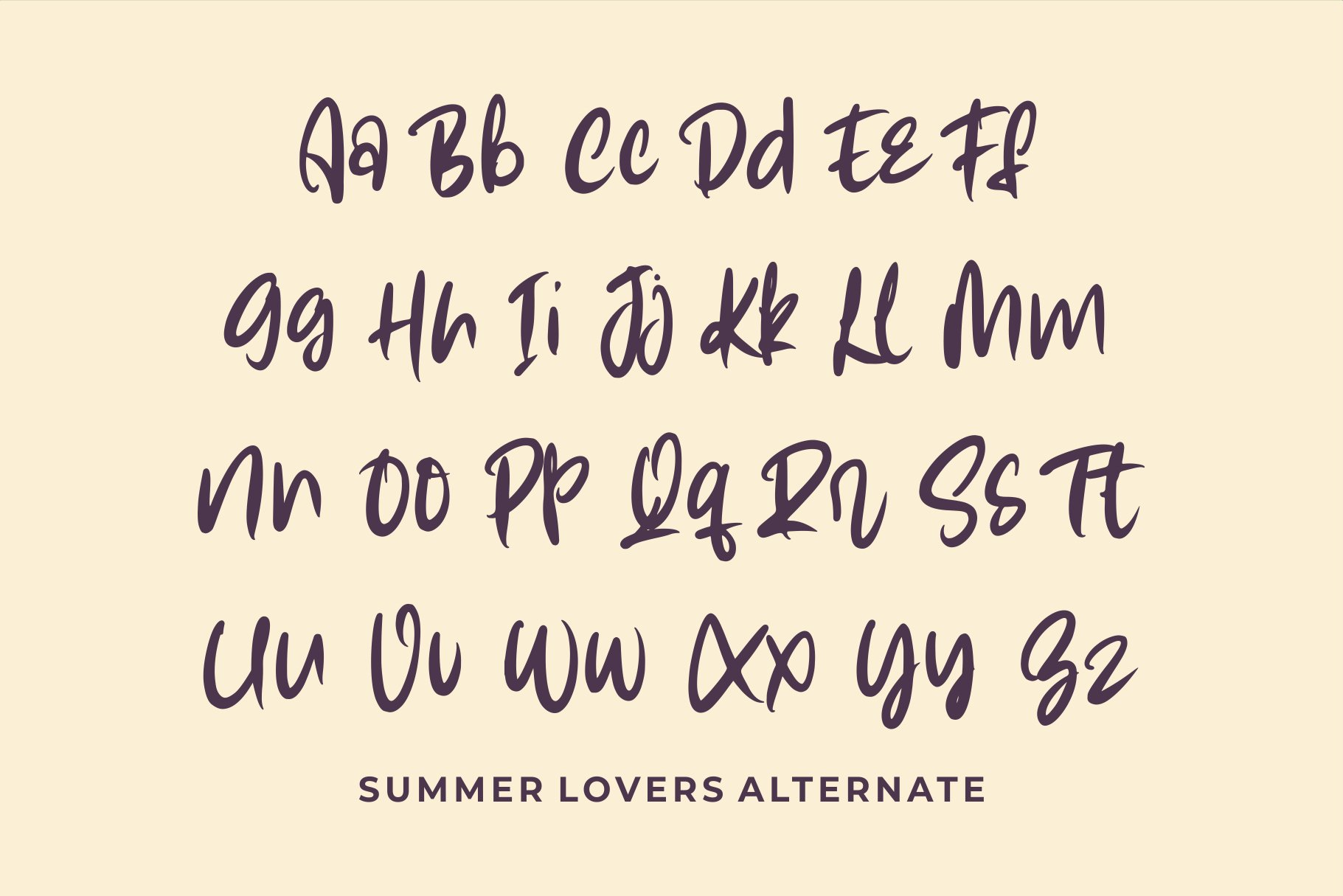 Summer Lovers with Alternate and Dingbat example image 10