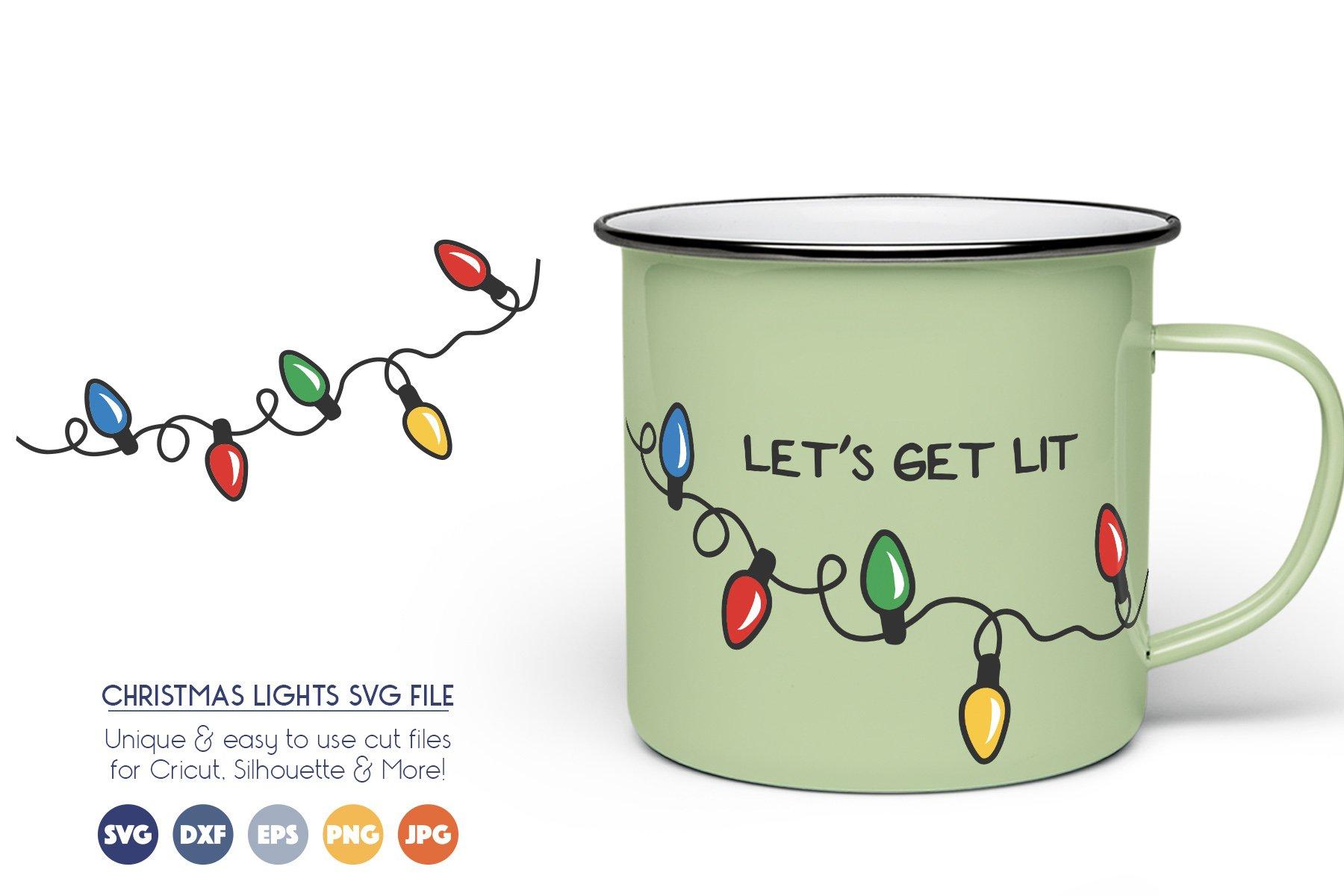 Christmas Lights SVG Cut Files example image 1
