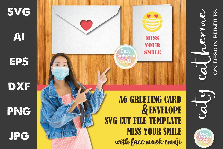 Download Miss Your Smile A6 Greeting Card Envelope Svg Cut File 673931 Svgs Design Bundles