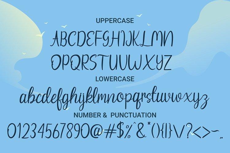 Beach Umbrella - Handwritten Script Font example image 8