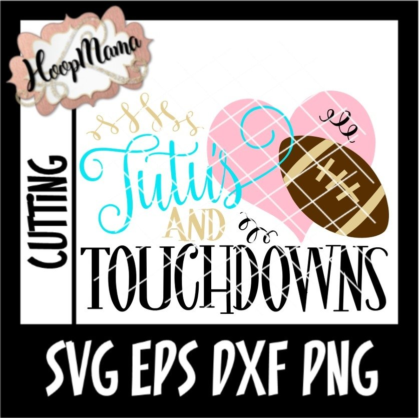 Tutu S And Touchdowns Football Svg Cutting File 149269 Svgs Design Bundles
