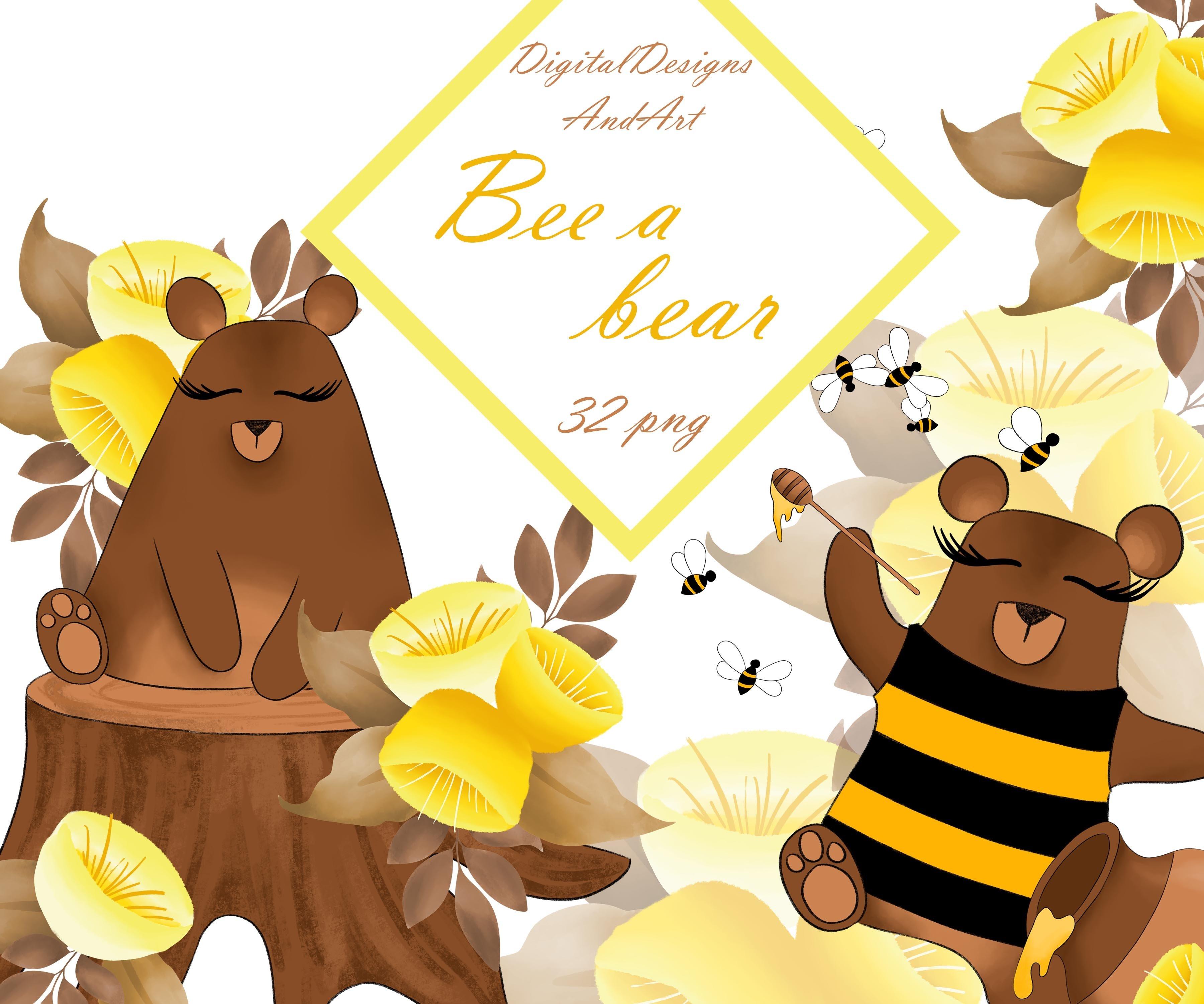 Bee a bear clipart