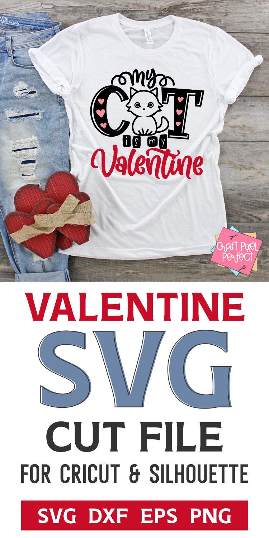 Download My Cat Is My Valentine Svg Valentines Svg Funny Valentine 1107439 Cut Files Design Bundles