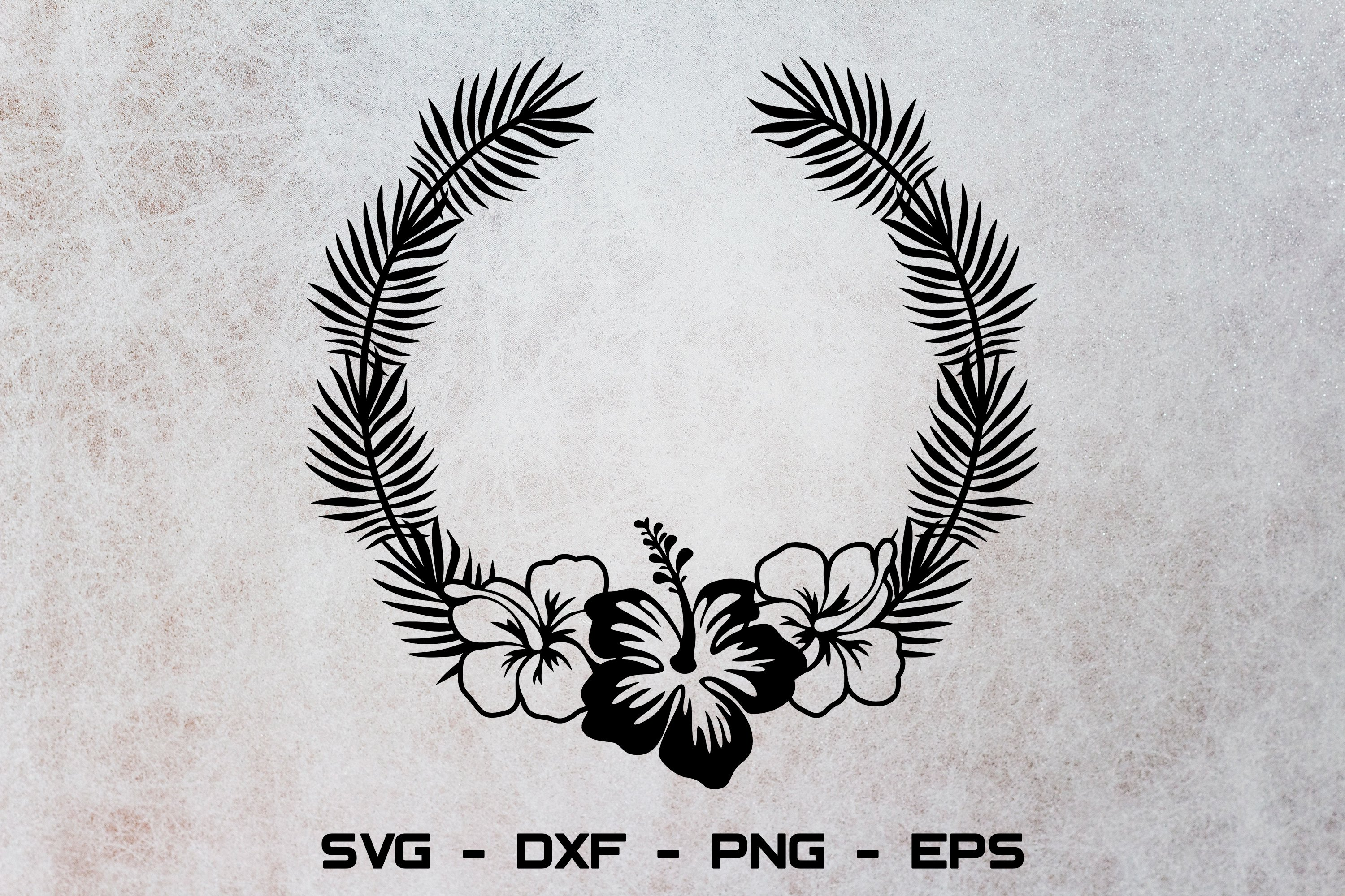 Get Tropical Monograms – Svg, Dxf, Eps Cut Files SVG