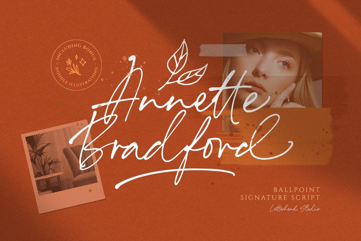 Annette Bradford - Ballpoint Script example image 1