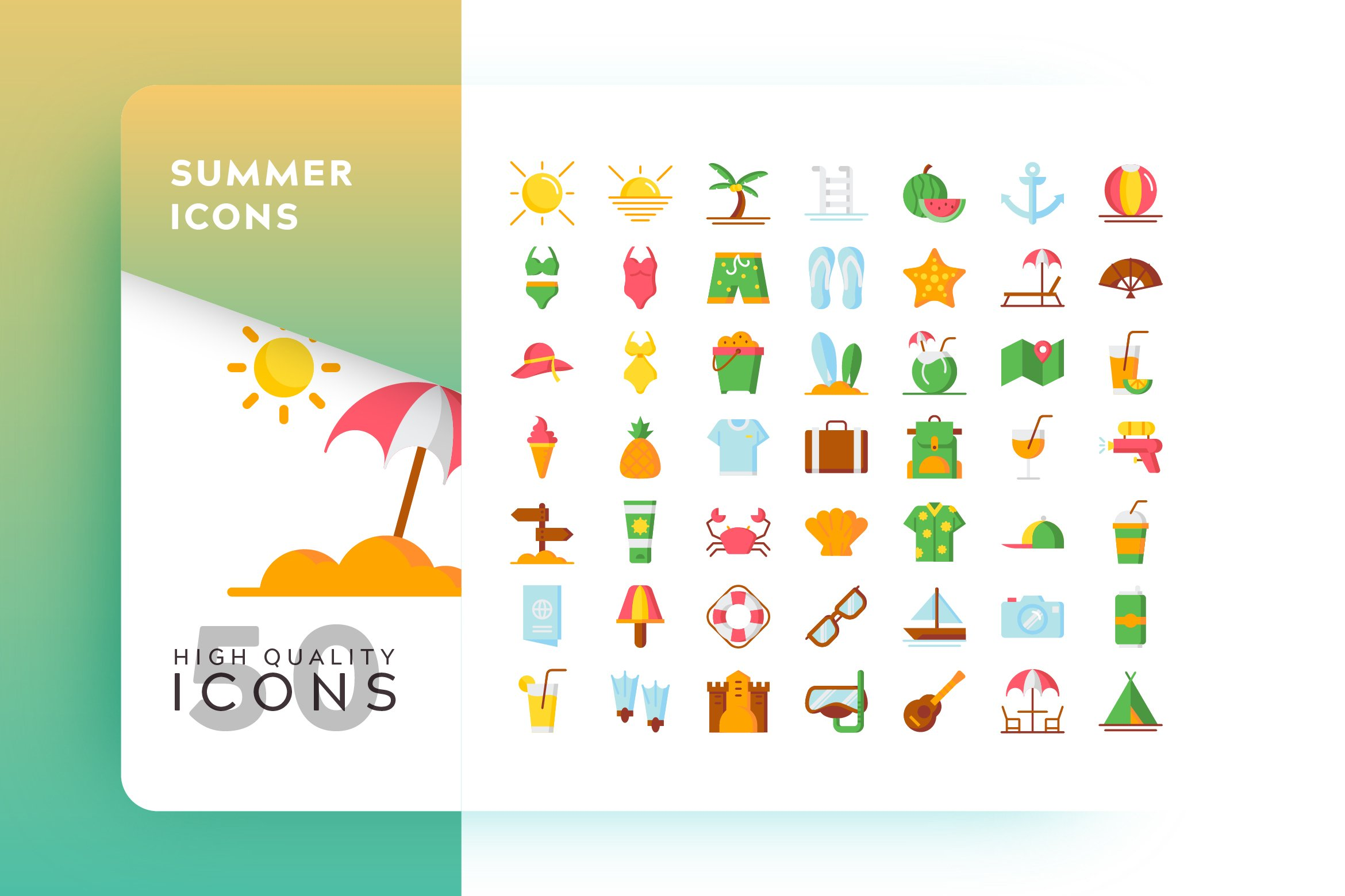 summer icon 256607 icons design bundles summer icon
