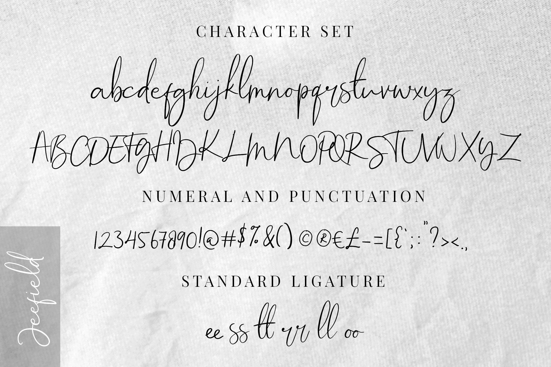 Jeefield Font example image 7