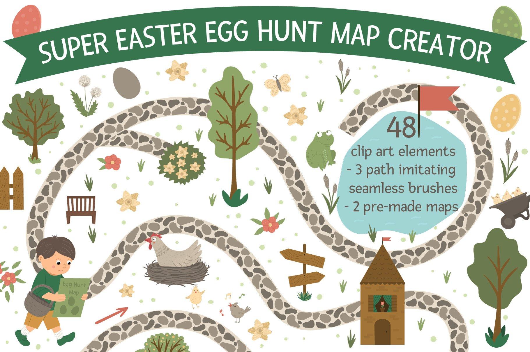 Download Easter Egg Hunt Map Creator 455055 Illustrations Design Bundles