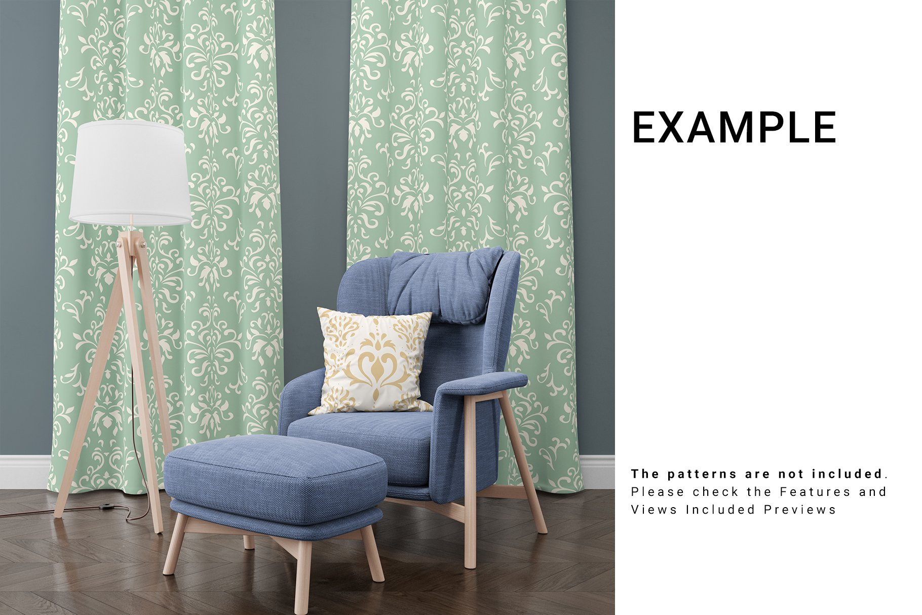 Curtains and Pillow Set example image 3