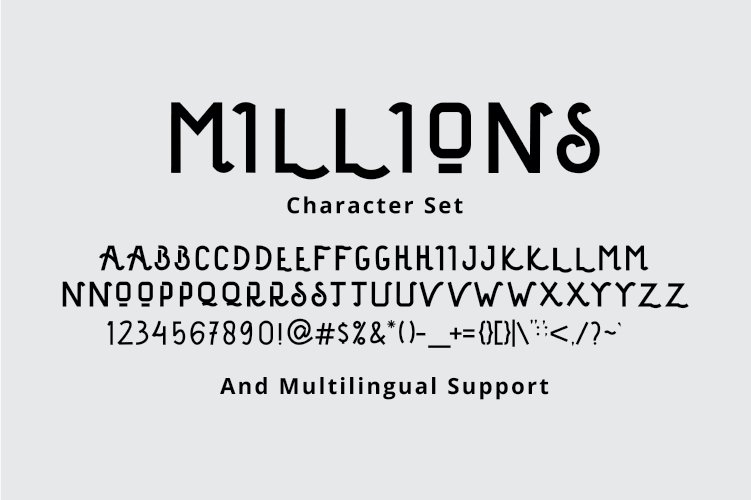 Millions Display Font example image 6