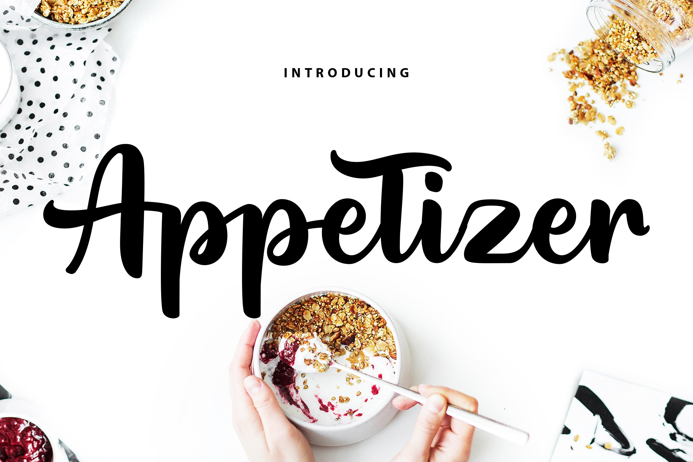 Appetizer | Modern Script Font example image 1