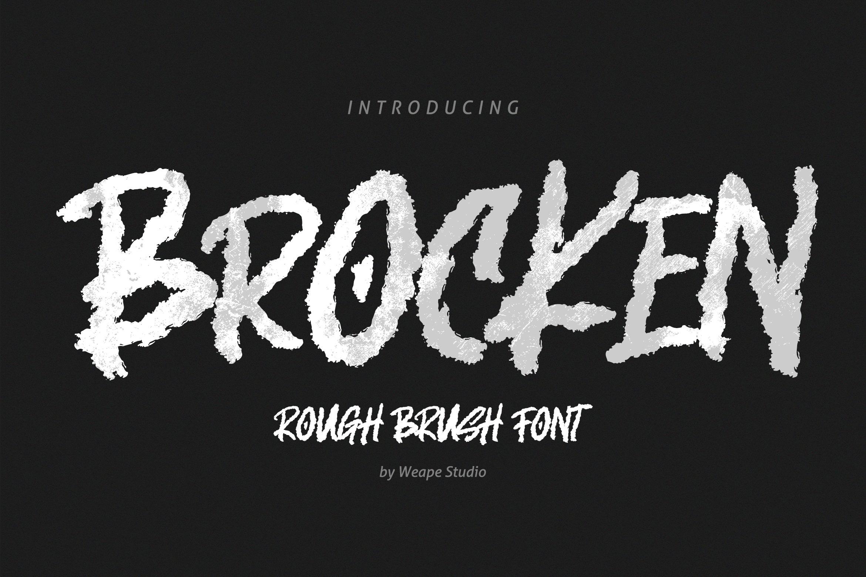 Brocken - Caps Rough Font example image 1