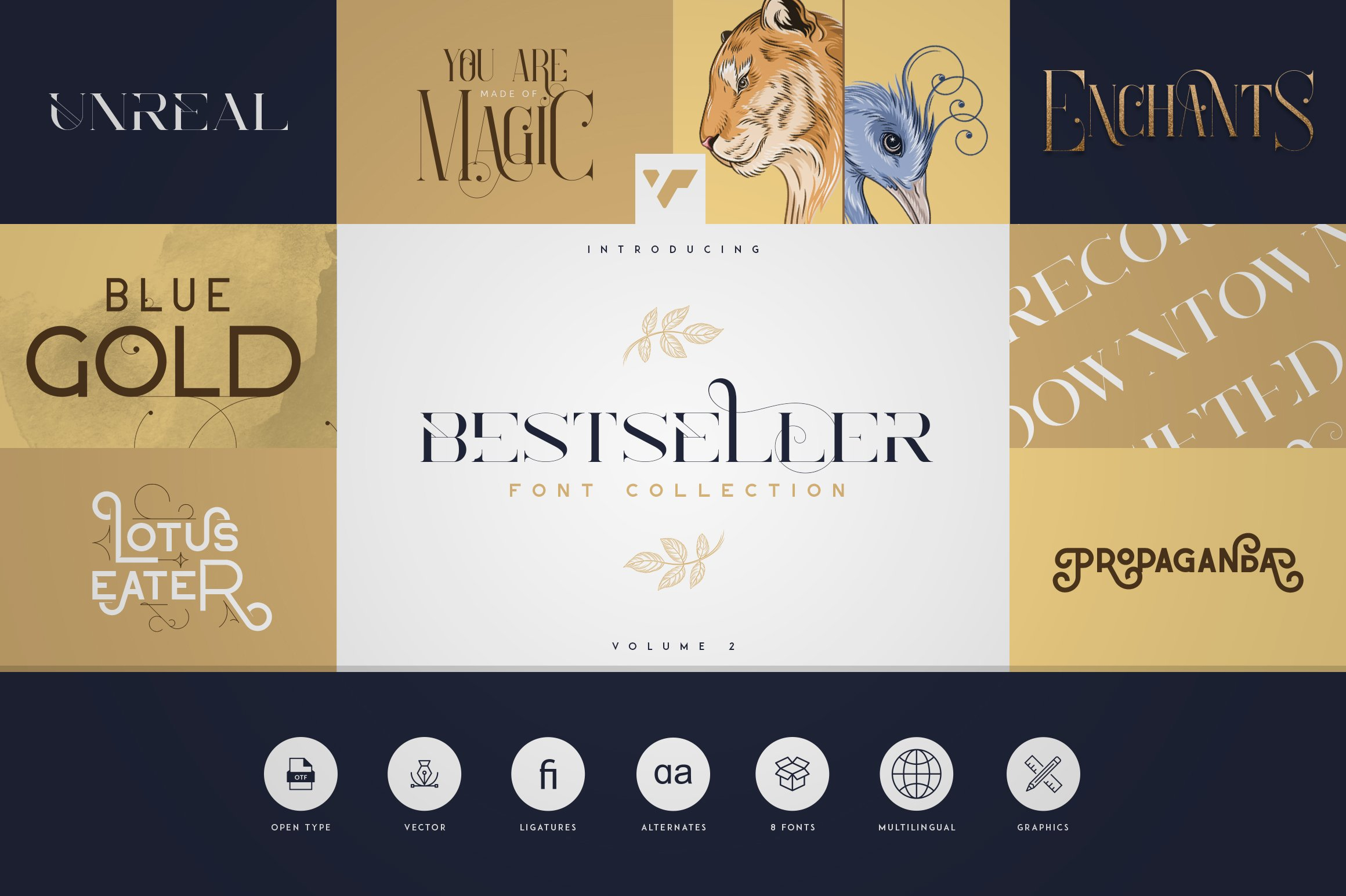 Bestseller Font Collection Vol.02 example image 1