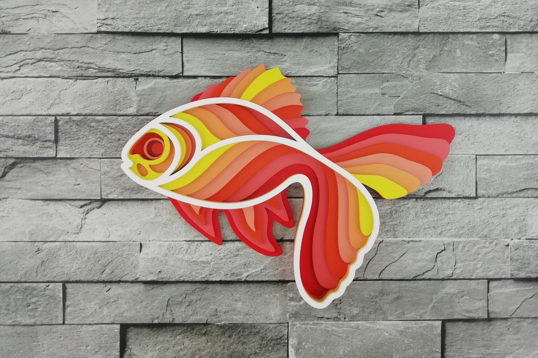 Download Layered Mandala SVG, Laser cut file Mandala, 3D Gold Fish ...
