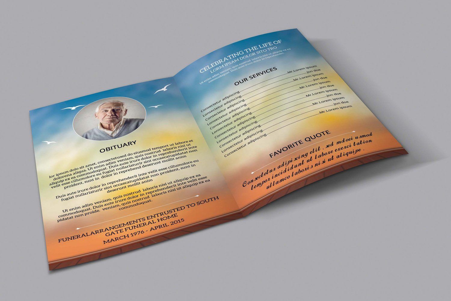 Funeral Program Template, Ms Word & Photoshop Template example image 4