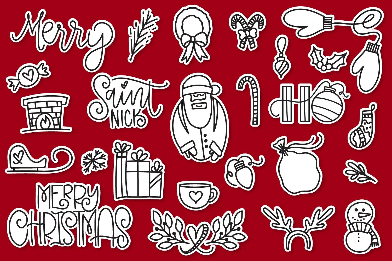20 Christmas Fonts - A Christmas Font Bundle! example image 14