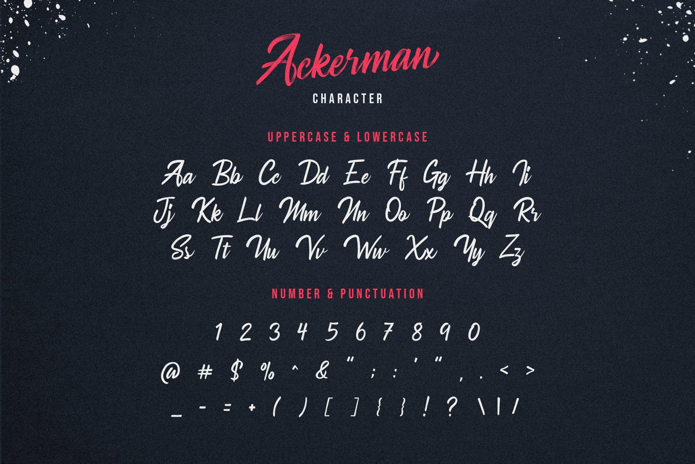 Ackerman Handlettered Script Font example image 4