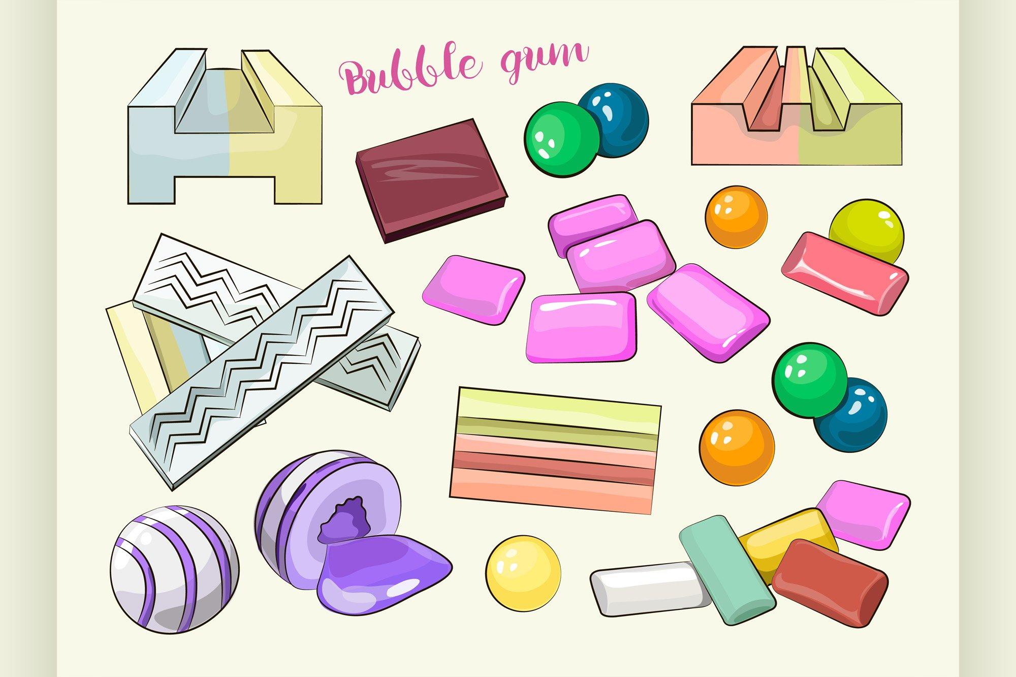 Bubble gum set example image 1
