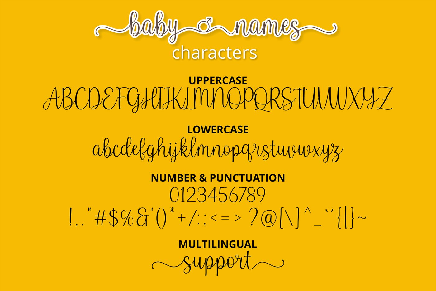 Baby Names - Boy and Girl Font example image 2