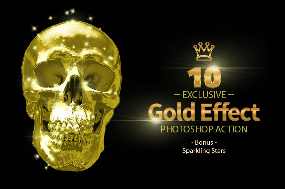 10 Gold & Sparkling Stars example image 4
