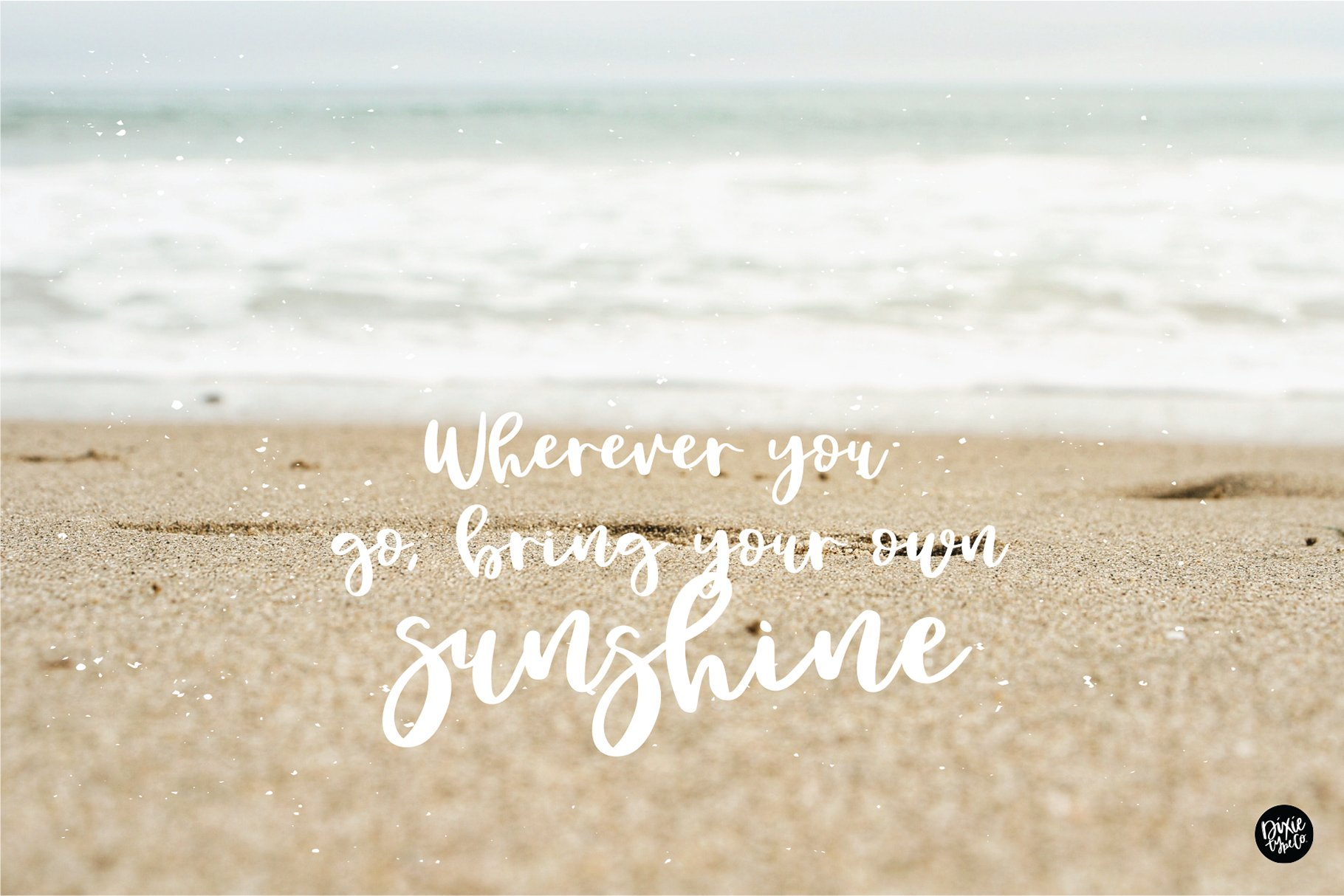 SANDY TOES a Bouncy Script Font example image 2