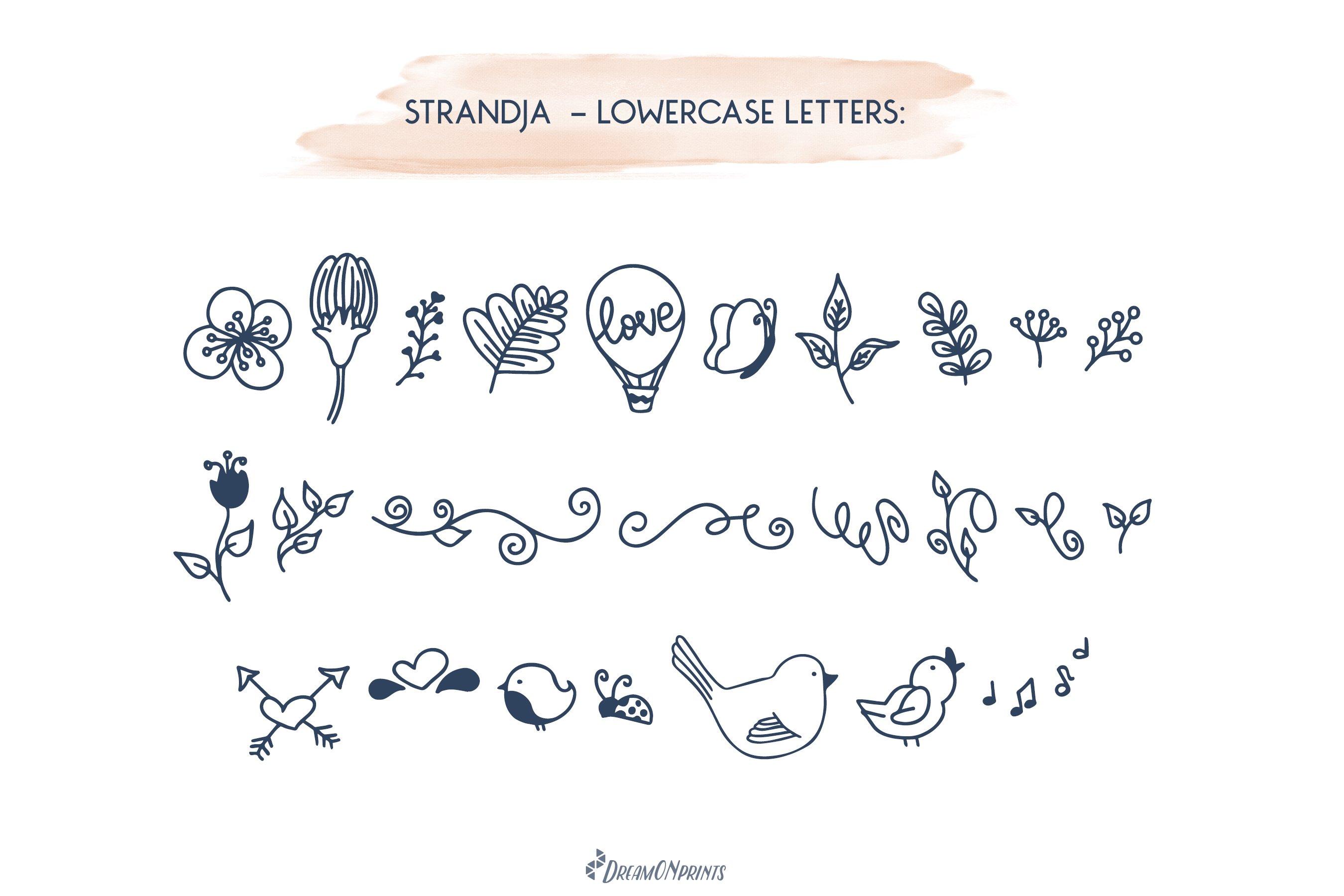 Strandja - Love Doodle Font example image 3