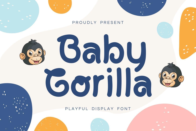 Baby Gorilla - Playful Display Font example image 1